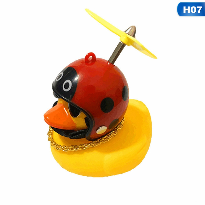 Bicycle Duck Bell with Light Wind Small Yellow Duck Road Bike for children New
