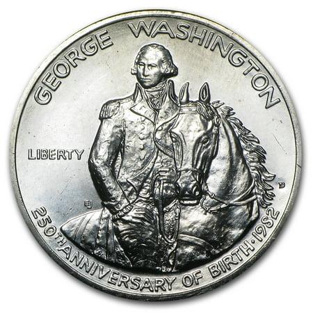 1982 Washington 1/2 Dollar 90% Silver Commem BU/Prf (No box/COA)