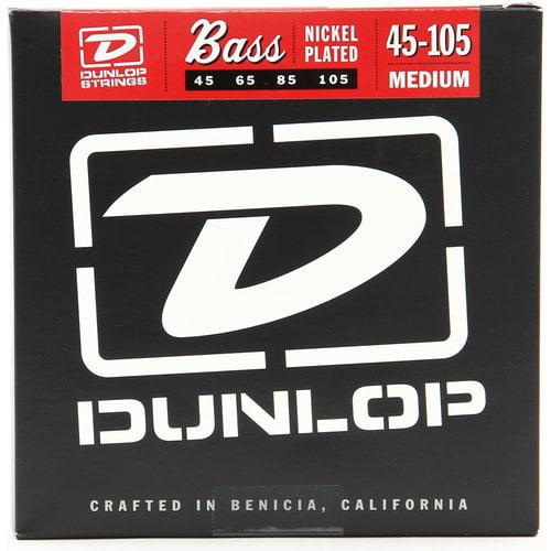 Dunlop Medium Nickel-Plated Bass Guitar, 45-105, 2-Pack