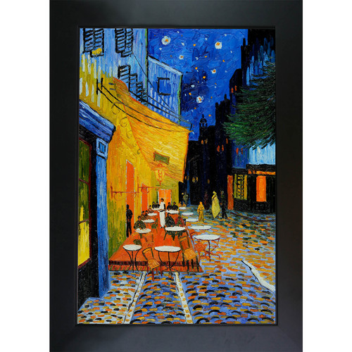 Wildon Home  Cafe Terrace at Night by Vincent Van Gogh Framed Original Painting