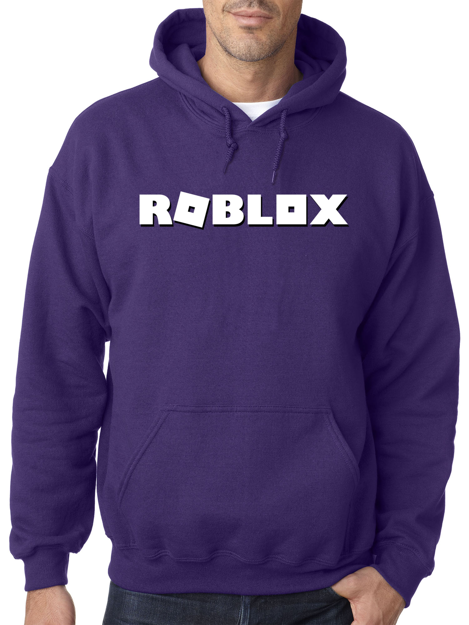 New Way 923 Adult Hoodie Roblox Logo Game Accent Sweatshirt Medium Purple - give me candy sweater roblox