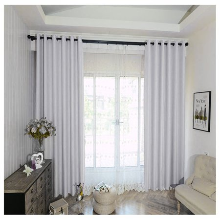 35 X 95 Inch Pleat Window Curtain 2 Panel Blinds Blackout Curtains