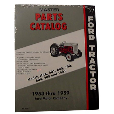 53FTMPC Tractor Master Parts Catalog for Ford Tractor NAA 501 601 801 901 1801 Ford Truck Master Parts Catalog