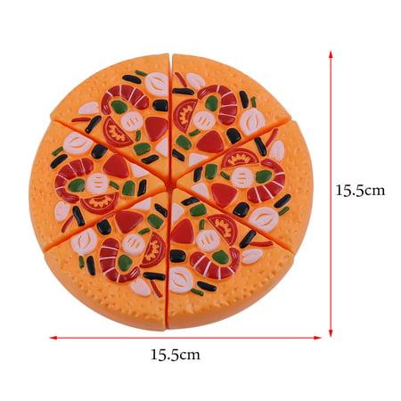 24 Pcs/Set Children Pretend Play Cut Fruit Pizza Food Toys Plastic Kids Kitchen House Toys Early Development