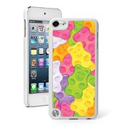 For Apple iPod Touch 5th / 6th Generation Hard Back Case Cover Colorful Gummy Bears Background (White)