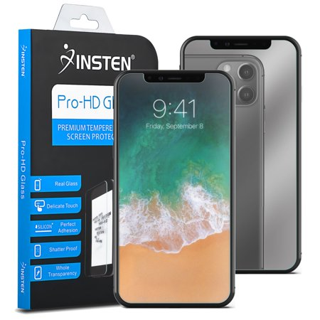 Apple iPhone X Case, by Insten Executive Protector Rubber Silicone/Plastic Case Cover For Apple iPhone X, Black (Combo with Mirror Screen Protector) - image 2 de 3