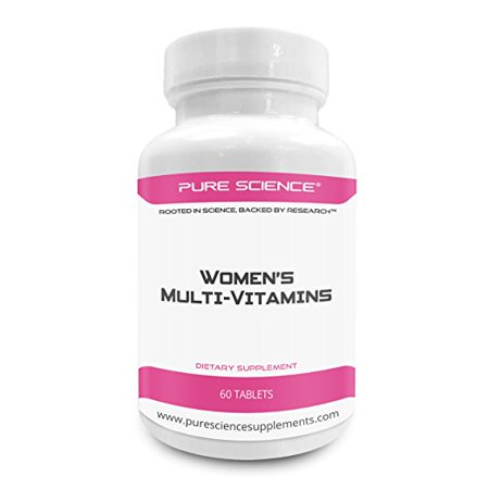Pure Science Women Multivitamin   Improves Immune Response  Blood Circulation And Supply  Reduce Anxiety   Overall Health   Your Female Multivitamin Supplement   60 Multi Vitamins Tablets
