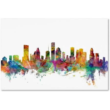 Scene Houston Texas (Trademark Fine Art