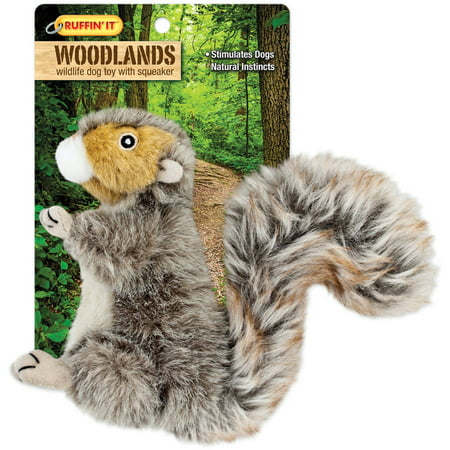 Woodlands Small Plush Squirrel Dog Toy