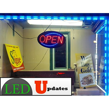- 60ft Super bright storefront LED light blue 5630 injection module with UL 12v AC Power package