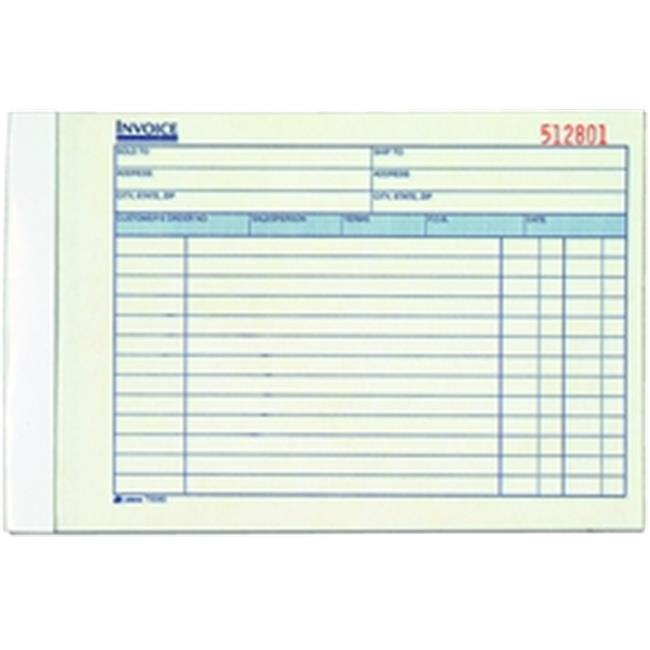Adams T5080 Invoice Book, 3-part, carbonless, 50 ST per BK