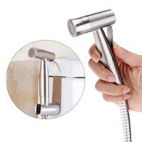 Tbest Bidet sprayer, Stainless Steel Bidet sprayer,1 PCS Stainless Steel Toilet Handheld Bidet Spray Brass Sprayer Kit for Shower/Pet Bath