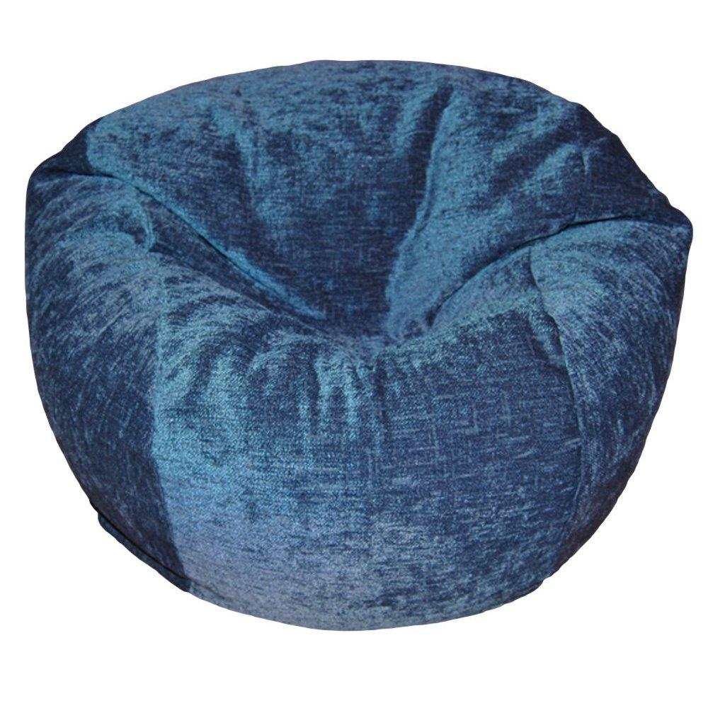 ahh! products chenille navy washable kid Beanbag chair by Overstock