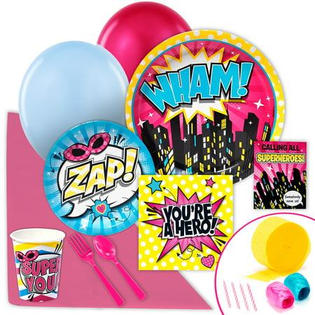 Superhero Girl Value Party - Girls Superhero Party Supplies