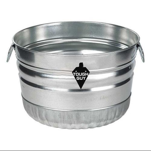 Tough Guy 3ANR9 Silver Galvanized Sheet Steel 9.3 gal. Utility Tub