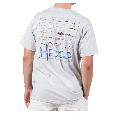 Heybo fish chart adult ss t shirt for Walmart fishing shirts