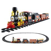 Egmy Details About Electric Christmas Train Tracks Set Kids toy with Lights Sounds