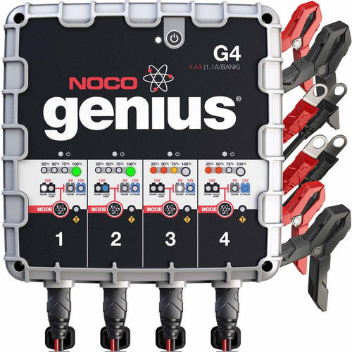 NOCO Genius G4 4.4-Amp 4-Bank UltraSafe Battery Charger