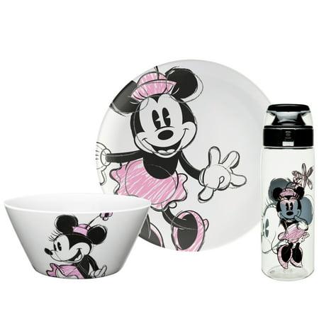 Zak! Designs Disney Minnie Mouse Dinnerware