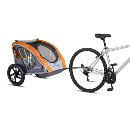 Schwinn Shuttle Foldable Bike Trailer, 2 Passengers, (Best Rated Bike Trailers)