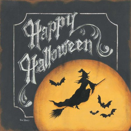 Happy Halloween Stretched Canvas - Kim Lewis (24 x 24)](Notre Lewis Halloween)