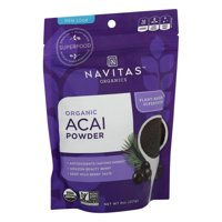 Navitas Organics Acai Powder, 8 oz. Bag  Organic, Non-GMO, Freeze-Dried, Gluten-Free 8 Ounce