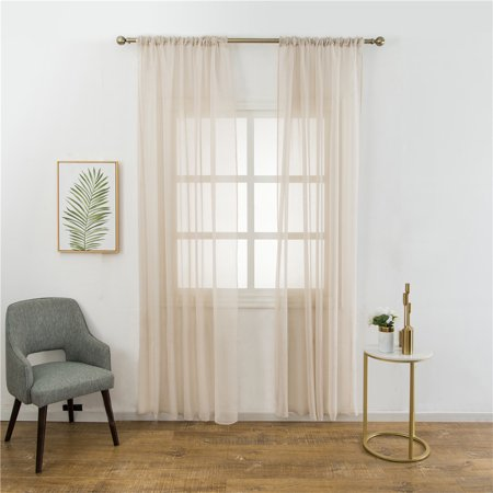 Ramie Cotton Blend (Pure Color Ramie Cotton Yarn Simple Decorative Window Curtain Bedroom Living Room Balcony Kitchen Hotel Decoration)