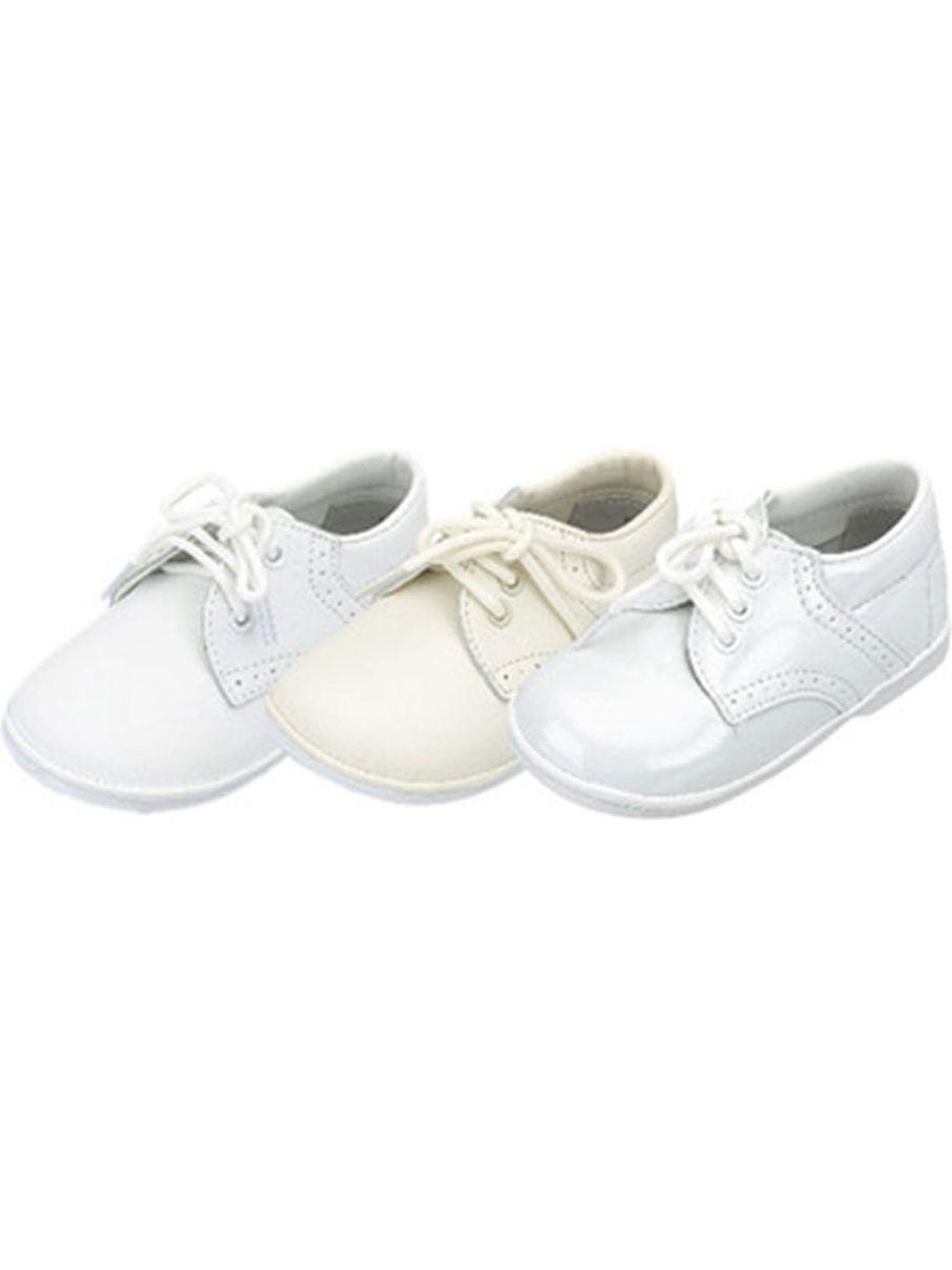 Baby Toddler Boys Ecru Classic Saddle Style Dress Shoes Size 1-7