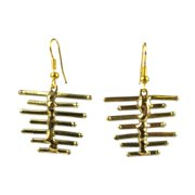 Global Crafts Handmade Fence Brass Earrings (South Africa)