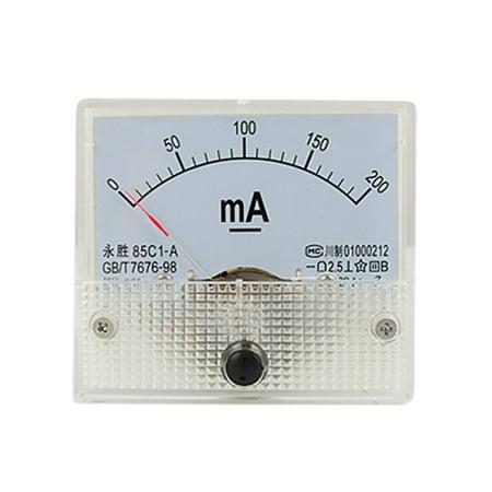 85C1 A DC 0-200mA analogique pour ampèremètre Panneau DE JAUGE DE Compteur - image 1 de 1