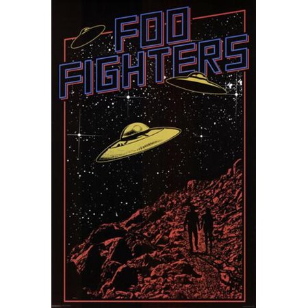 Foo Fighters UFO Poster 36 x 24 Dave Grohl Nirvana Rock Music (Rock N Roll Home Decor)