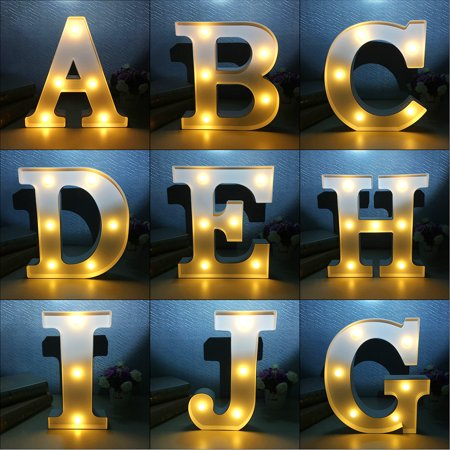 12inch Marquee Letter Lights LED Vintage Circus Style A - M Alphabet Light Up Sign Wedding Party Decoration (Light Up Decorations)