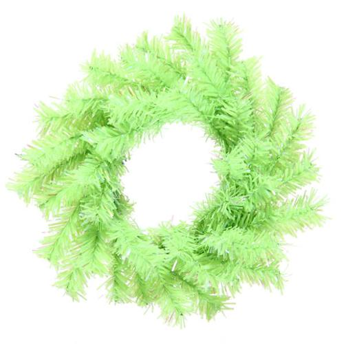 "6"" Chartreuse Green Artificial Mini Christmas Wreath  - Unlit"