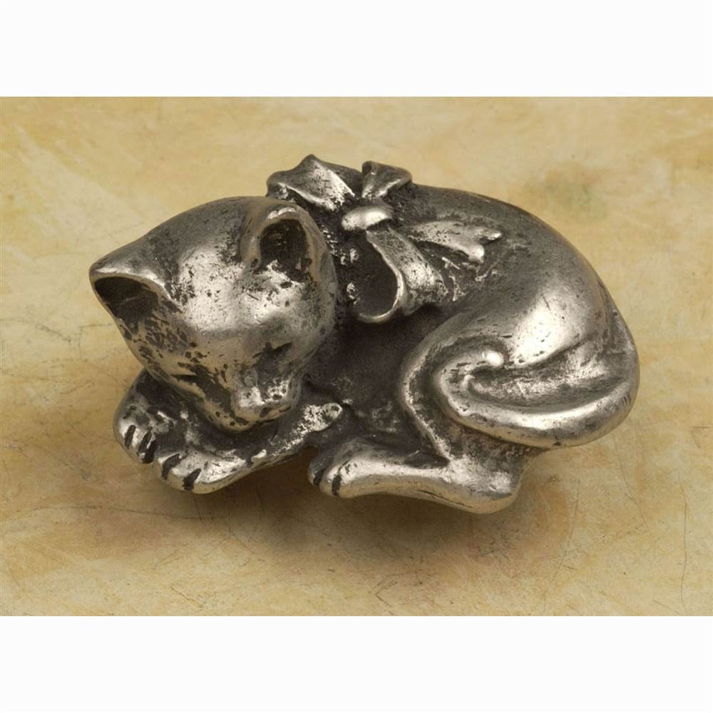 Sleeping cat-sm knob (Antique Bronze)