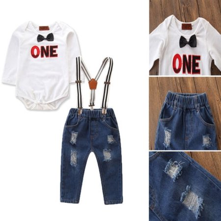 Toddler Kid Baby Boy Romper T-shirt Top+Strap Pants Overalls Clothes Outfits Set - Chucky Overalls For Toddlers