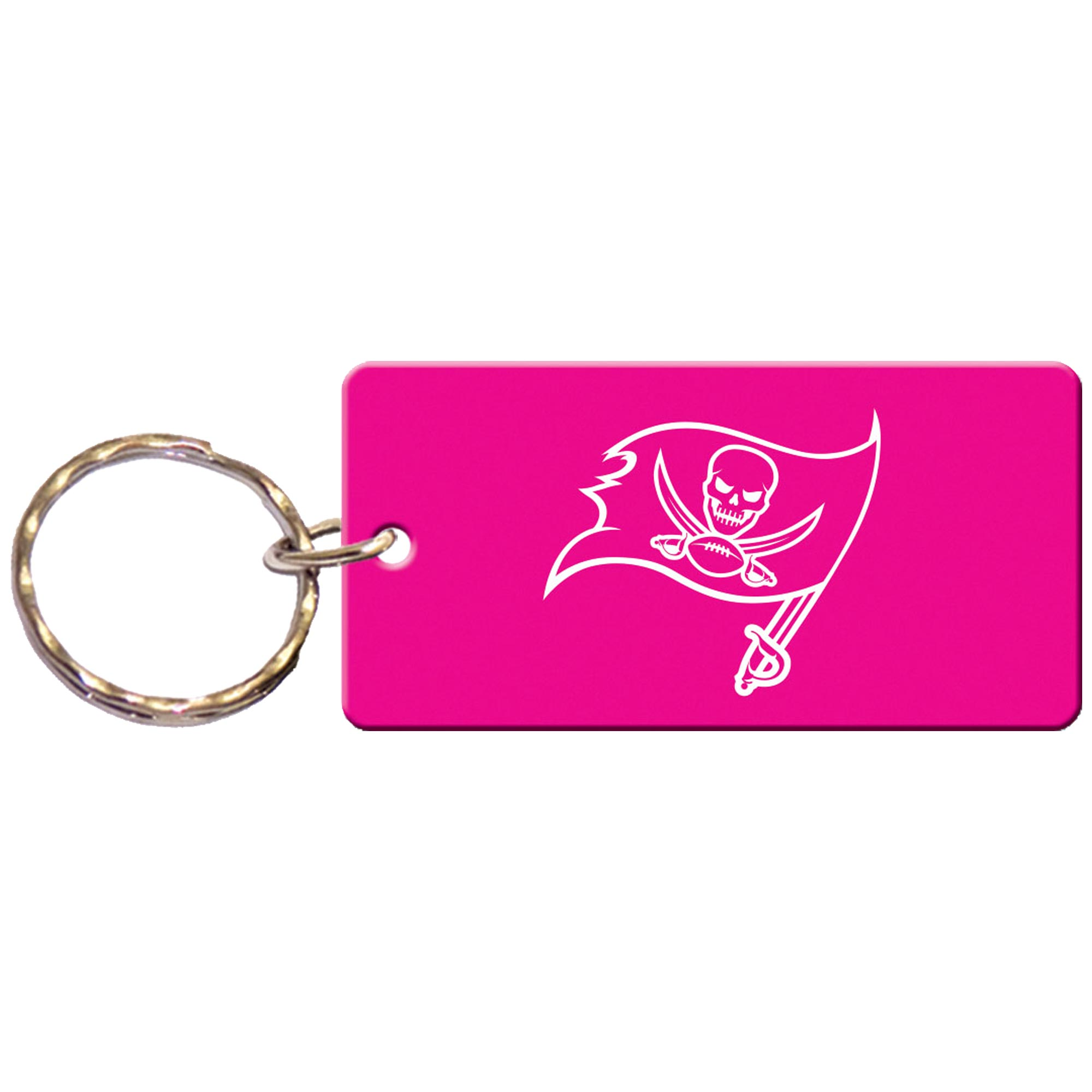 Tampa Bay Buccaneers Women's Pink and White Keychain - No Size