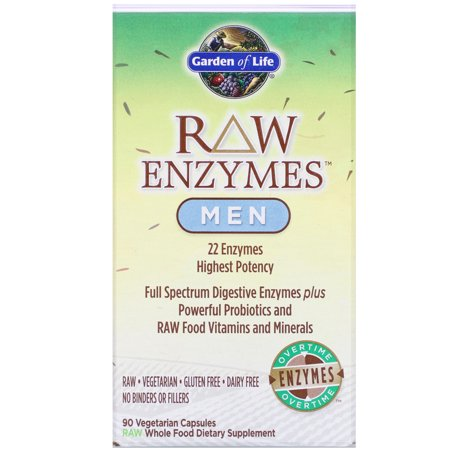 Garden of Life RAW Enzymes, Men, 90 Veggie Caps (Garden Of Life Raw Enzymes Side Effects)