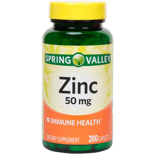 Spring Valley Zinc 50 Mg 200Ct Spring Valley Natural Zinc Immune Health Dietary Supplement 200