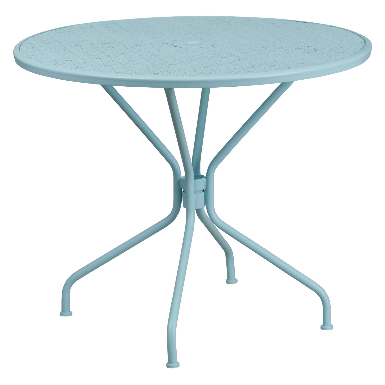 """Flash Furniture 35.25"""" Round Indoor-Outdoor Steel Patio Table, Multiple Colors"""