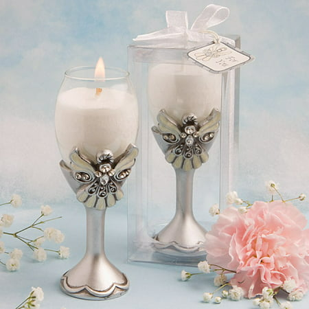 Angel Design Champagne Flute Candle Holders - Glass Angels Candle Holder