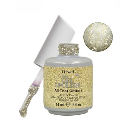 IBD Just Gel 0.5oz Soak Off Nail Polish Gold, ALL THAT GLITTERS, 56540](Glitter Gel)