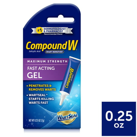 Compound W Fast Acting Gel, Salicylic Acid Wart Remover, 0.25 OZ