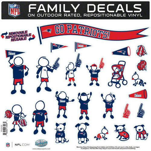 NFL - New England Patriots Family Decal Large Package