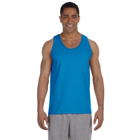 - Branded Gildan Adult Ultra Cotton 6 oz Tank Top - SAPPHIRE - S (Instant Saving 5% & more on min 2)