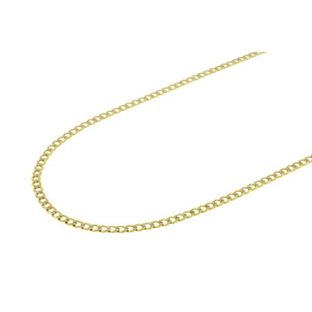 c818e6eec DiamondMist - Solid 10K Yellow Gold Men's Diamond Cut Cuban Curb Chain  Necklace 3MM 20