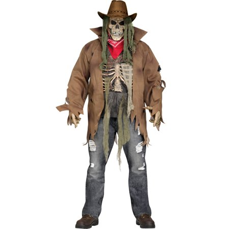 Dead Or Alive Zombie Cowboy Adult Undead Halloween Costume-Plus Size (Zombie Cowboy Halloween)