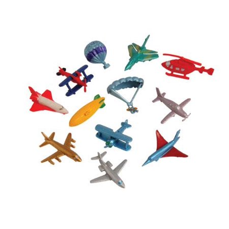 Aircraft Transportation Figurines - Mini Action Figures Replicas - Miniature Plane and Jet Playset