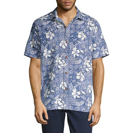 Tahitian Tiles IslandZone Camp Shirt Mens Cord Camp Shirt