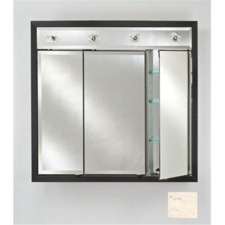 Afina Corporation TD-LC4740RRUSWT 47 in.x 40 in.Recessed Contemporary Integral Lighted Triple Door - Rustic Wood Off White - image 1 of 1