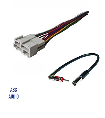 asc audio car stereo radio wire harness and antenna adapter to rh walmart com